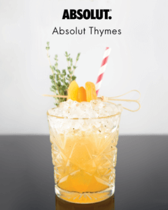 ABSOLUT Thymes 1 Coctktail - Cocktails in Cyprus